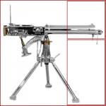 arma-da-fuoco-mitragliatore-decorato-su-trepiede