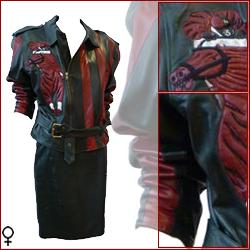 giacca-da-motociclista-rossa-e-nera